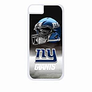 New York Giants-NFL- Apple iPhone 4 - 4s universal - Hard white plastic case with black soft rubber lining (double layer).