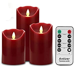 Antizer Flameless Candles with Timer Function