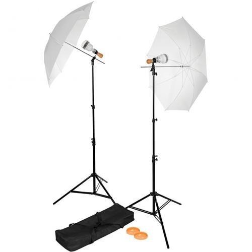 (Westcott Single-Socket 2-Light LED Umbrella Kit)