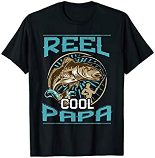 Cool gift Reel Cool Papa - Fishing Gift  For Dad Papa Women Long Sleeve Funny Shirt / Navy / S - 5XL