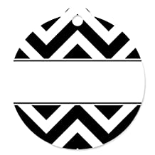 Chevron Black and White - Baby, Bridal Shower or Birthday Party Favor Gift Tags (Set of 20)