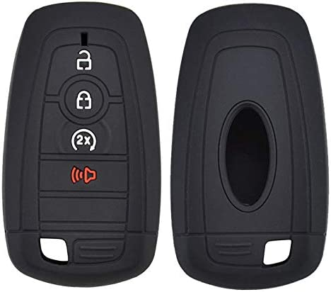 Silicone Car Key Cover Remote Fob Case For Ford F-150 F-250 F-350 Ecosport Edge Explorer Fusion S-MAX Mustang 2017 2018 Shell Jacket Protector 3 Buttons