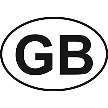 GB Great Britain Oval External Car Bumper Sticker Decal