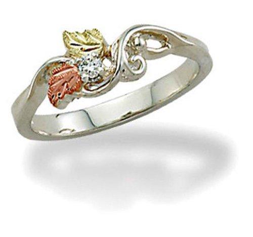 Landstroms Black Hills Silver Ladies Diamond Ring - MRLLR3030X -