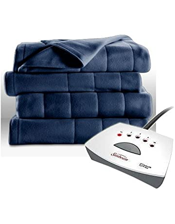 521646d76d Heated Fleece Blanket Electric Dual Control Auto-Off Machine Washable  Winter Bed