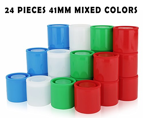 Homeio 41mm Film Canisters ''Multi-Color'' Red-Green-Blue-Wh