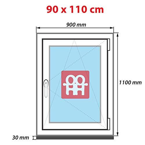 Dreh-Kipp-Fenster rechts   wei/ß 90x110 cm Kunststofffenster 6 Kammern 900x1100 mm
