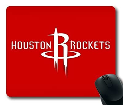 Exclusive design from 8888 - Houston Rockets on Red Rectangle Mouse Pad by eeMuse - 8.5*7.1*0.2 inches -