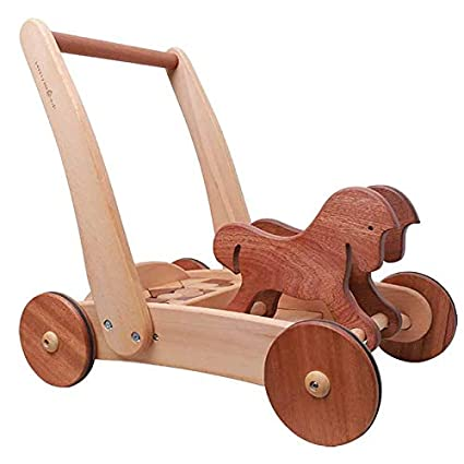 Amazon.com: Building Blocks Walker - Carro de madera para ...