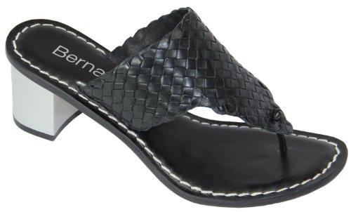 Bernardo Dames Jinx New Metallic String Sandaal Zwart