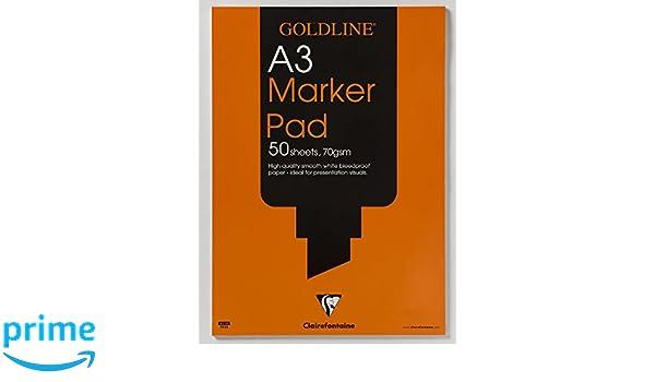 50 hojas, 100 p/áginas, A3, 70 g//m/², anti-corrimiento Papel para presentaciones Goldline GPB1A3