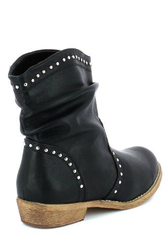 Tachuelas y botas, color negro Negro - negro
