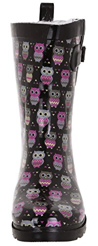 Ladies Rain Black Mid Printed New Capelli Collegiate Boots Calf York Plaid Grey qnwvSxgE18