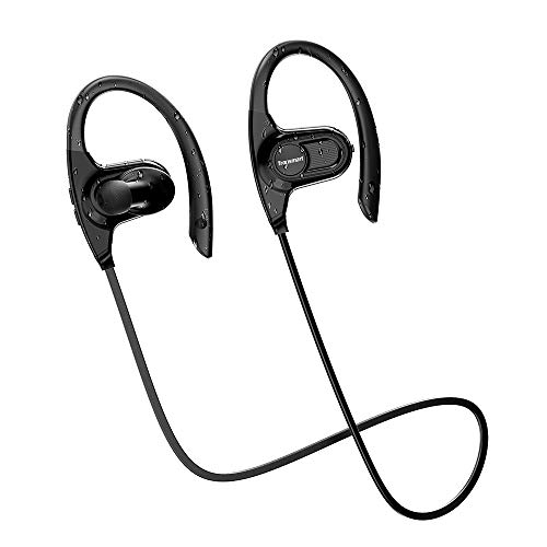 Bluetooth Headphones, Tronsmart Hydra Waterproof IPX7 Wireless Earphones, Sports Earbuds for Gym Running Workout, 5-10 Hrs Playback, Hi-Fi Sound CVC Noise Cancelling Headsets, Comfy Easy Pairing