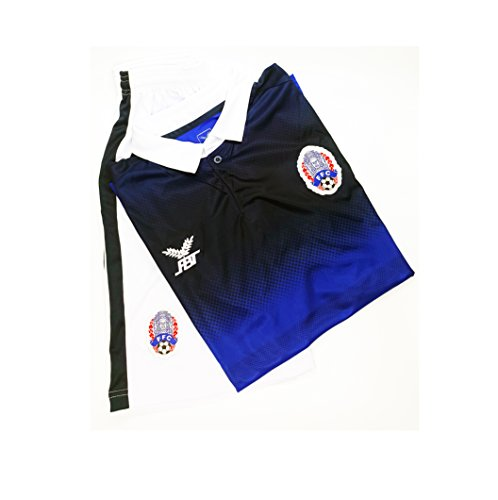 Shirt + Shorts Cambodia national football team Jersey Blue Size (M)