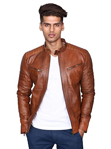 Buy MOZRI Leather Jacket for Men's at Amazon.in