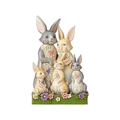 Enesco Jim Shore Heartwood Creek Bunny Family Figurine 8.4