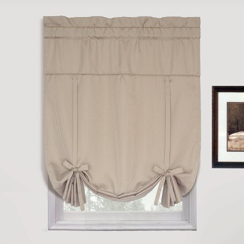 United Curtain Metro Woven Tie Up Shade, 40 by 63-Inch, Natural