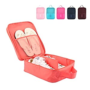 Portable Travel Shoe Bags with Zipper Closure, Convenient For Packing System for Your Shoes, Space Saver Bag, Protect Shoes From Dirt And Smell Of Your Shoes. (Blue SB)