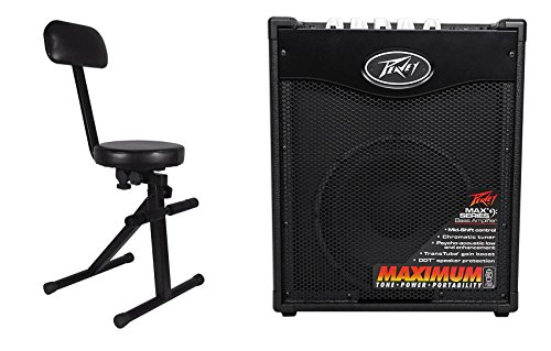 Peavey Max 110 100w Electric Bass Guitar Amplifier Combo Amp, 10'' Speaker+Throne by Peavey