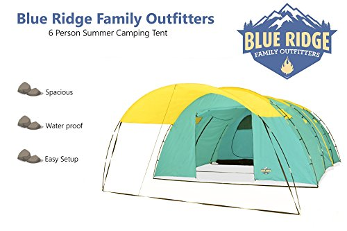 ... Blue-Ridge-Family-Outfitters-6-person-Summer-C&ing- ...  sc 1 st  C&ing Equipment u0026 Supply & Blue Ridge Family Outfitters 6 person Summer Camping Tent ...