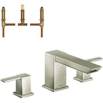 Moen Ts903Bn 90 Degree Two-Handle High Arc Roman Tub Faucet, Brushed ...