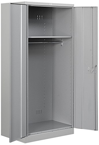 Salsbury Industries Wardrobe Heavy Duty Storage Cabinet, 78-Inch by 24-Inch, Gray - 2 Door Top Storage Cabinet