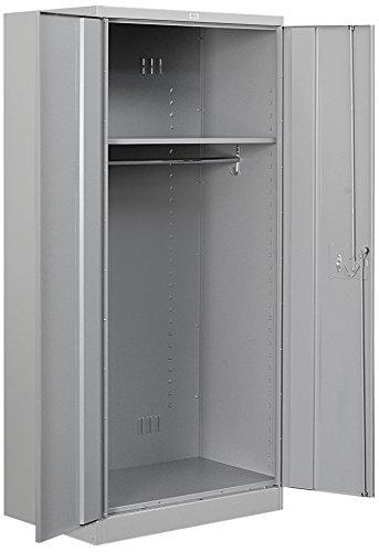 (Salsbury Industries 8174GRY-U Wardrobe Heavy Duty Storage Cabinet, Unassembled, Gray)