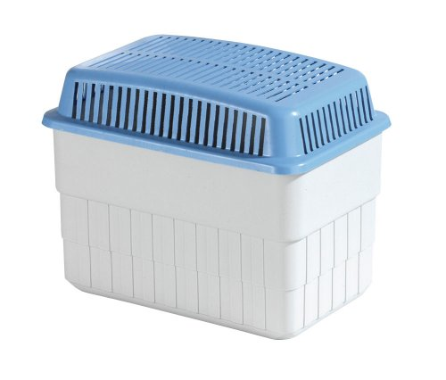 WENKO Feuchtigkeitskiller 1 kg - Raumentfeuchter, Kunststoff - Polypropylen, 24 x 16 x 15 cm, Weiß, 5410010100
