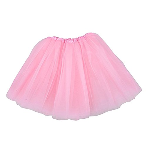 TRADERPLUS Women's Vintage Petticoat Tutu Ballet Bubble Skirt Party Occasion Accessory (Pink)