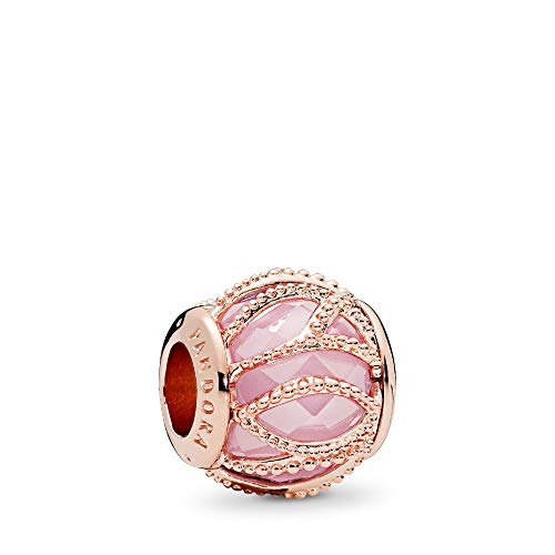 (PANDORA Intertwining Radiance Charm, PANDORA Rose, Pink Cubic Zirconia, One Size)