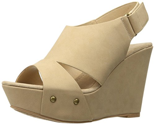 CL by Chinese Laundry Women's Cutey Platform Wedge Pump Sandal, Nude Nubuck,  10 M US ()