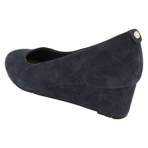 Clarks Dames Vendra Bloeien Gesloten Sandalen Met Sleehakken Blue