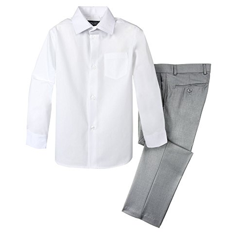 Spring Notion Boys' Dress Pants and Shirt 5 Light - Gray Slacks