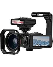 2K Video Camera Night Vision Camcorders, HD Night Vision Paranormal Investigation Video Camera WiFi 2K 30FPS 30MP Camcorder with IR Light, Wide Angle Lens and Camera Holder - Ghost Hunting Camera