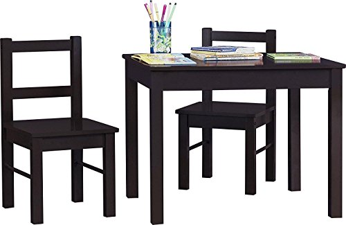 (Generic tangle Desk Brown Furniture Back Seat Rectangle Des Kids Table Chairs Kids T Slat Back wn Furn Set Wood Chairs Set Seat Rectangle)