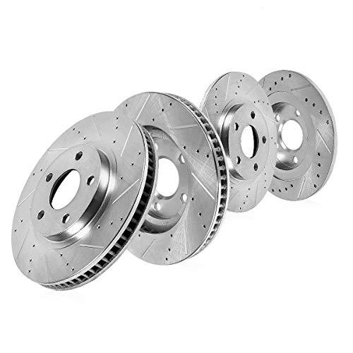 Callahan CDS03455 FRONT 300mm + REAR 259mm D/S 5 Lug [4] Rotors [ for 2006 2007 2008-2012 Honda Civic Si ] ()