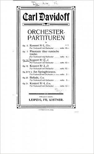 Cello Concerto No2 Score Karl Davydov 0748388196570 Amazon