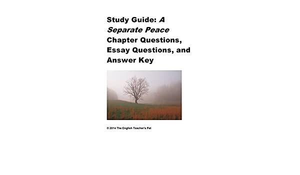 A separate peace: chapter 10 reading and study guide lesson plan.