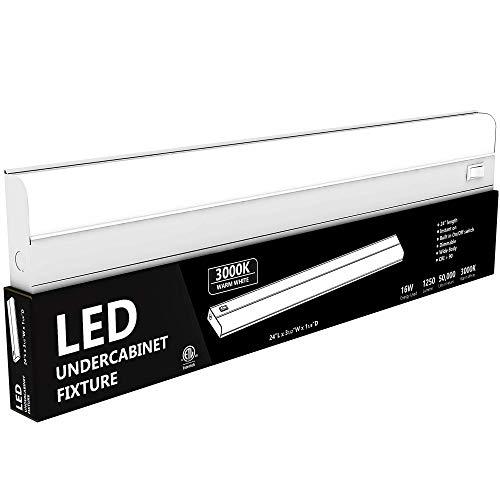 Hardwired LED Under Cabinet Task Lighting – 16 Watt, 24