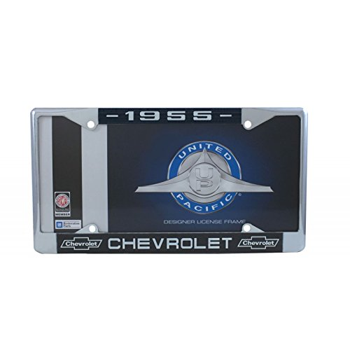 United Pacific C5041-55 1955 Chevrolet Chrome License Plate Frame