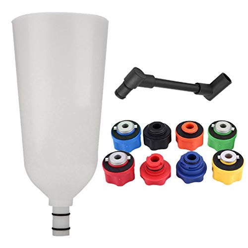 Iycorish 1 Set 10Pcs Car Engine Oil Funnel Adaptor Filling Set Plus Swivel Offset Extension Tube Car Van Tool Car Accessories