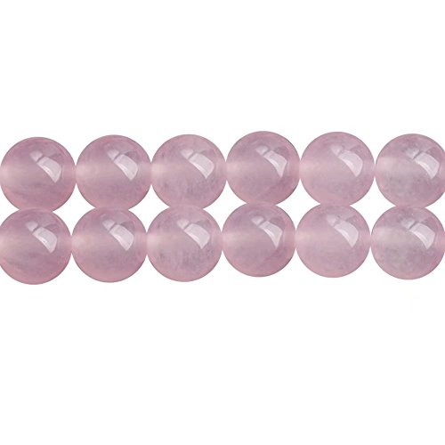 Pink Chalcedony Stone Round 8mm Beads for Fashion Jewelry Craft Making One Strand 15 Inch Apx 46 Pcs