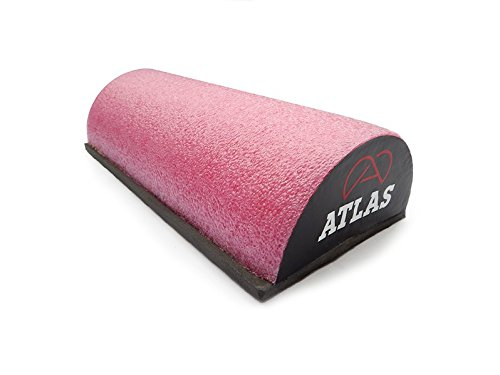 Handcrafted Alpha Half Foam Roller Textured Lumbar Support & Assist for Back Pain Relief, Neck Tension Relief, Posture & Sacrum Support (Pink, 18) ()