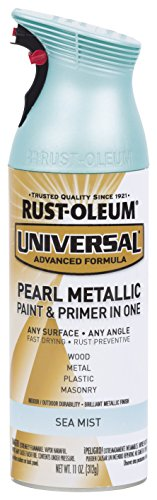 Rust-Oleum 301551 Universal All Surface Spray Paint, 11 oz, Pearl Metallic Sea Mist