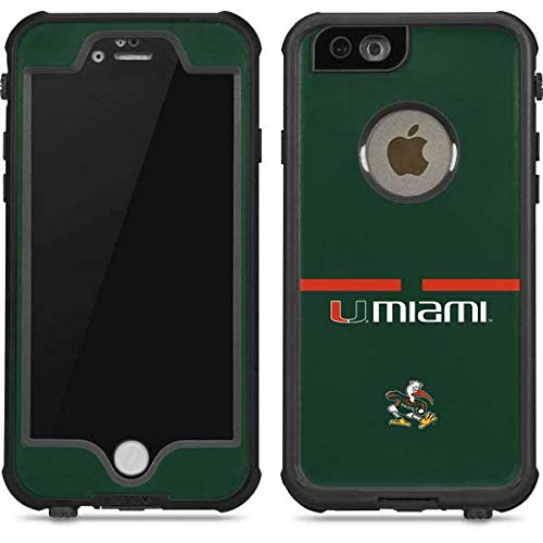 Skinit University of Miami Hurricanes iPhone 6/6s Waterproof Case - Officially Licensed Phone Case - Fully Submersible - Snow, Dirt, Water Protected iPhone 6/6s Cover