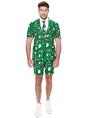 Mens Opposuits Green Suit - OppoSuits Mens Summer Santaboss Suit and