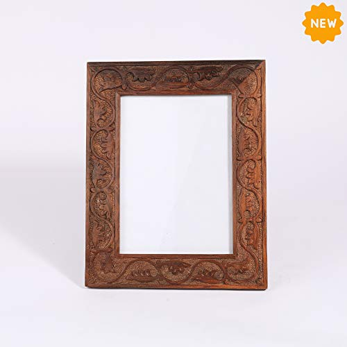 Rusticity Wooden Photo Frame/Picture Frame - Table Top |Rosewood (Indian Sheesham)| Handmade| (10x8x0.5 in)
