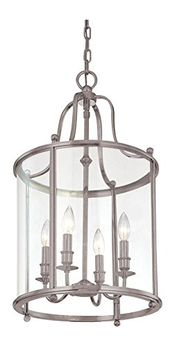 Antique Nickel Four Light Pendant from the Mansfield Collection