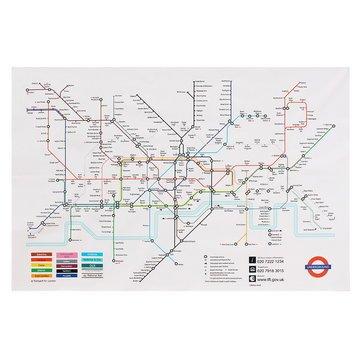 London Underground Subway System (Tle - Wall Art - 35x23 Inches London Underground Metro Map Retro Wall Art Silk P Home Decor Place Map Metro Subway_system British_capital - 1PCs)